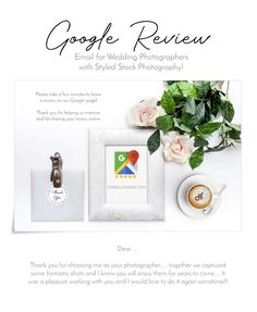 Google Review Email Templates for Wedding Photographers with styled stock photography to compliment for your brand! A collaboration between Darrell Fraser Photography and wowstudio.co.za #styledstockphotography #template #wedding #photographer