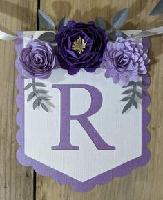 Personalized banner with purple paper flowers Paper flower | Etsy Paper Flower Garlands, Paper Flower Backdrop, Paper Flowers, Purple Flowers, Baby Shower Gifts, Baby Gifts, Baby Shower Purple, Purple Baby, Pink Color Schemes