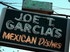 Joe T. Garcia's Mexican Restaurant Fort Worth Texas Neon Sign 11199 by Dallas Photographer David Kozlowski, via Flickr