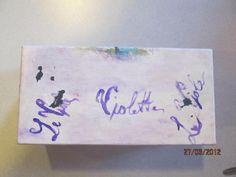 scatolina recuperata decoupage pittorico