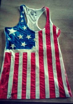 American flag tank. Want! Yeah, I'm proud to be an American.