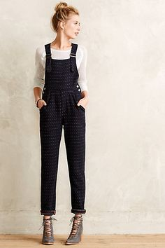 Dotted Tweed Overall Looks Style, Style Me, Look Fashion, Womens Fashion, Fashion Trends, Petite Fashion, Curvy Fashion, Fashion Bloggers, Runway Fashion
