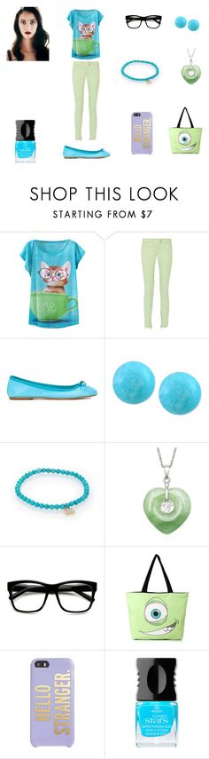 """""""Periwinkle Kloopus #20"""" by romancelover299 ❤ liked on Polyvore featuring Balmain, ANNA BAIGUERA, Effy Jewelry, Sydney Evan, ZeroUV, Kate Spade and Alessandro International"""