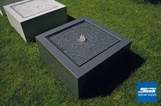 Gartenbrunnen Aluminum-Kubus-Tisch 100