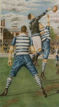 Geelong v University, 1909.  Part of an artwork by DJ Williams......................Premium Quality limited edition Giclee prints available through Etsy.