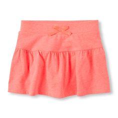 Girls Ruffle Active Skort - Orange - The Children's Place