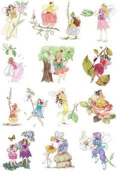 6pcs/lot 19cm*24cm Heat Transfer design Lovely Fairy Flower Iron-on Heat press Sticker Ornament of cloth art , Free Shipping(China (Mainland))