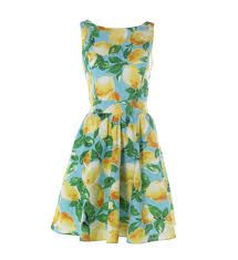 Love this Tropical dress- Lemon A-line with pleated skirt. Dress Outfits, Prom Dresses, Summer Dresses, 1950s Dresses, Lemon Print Dress, Normal Girl, Gingham Dress, Cute Fashion, Vintage Outfits