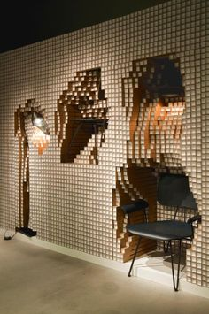 WGSN: Digit by Yoshimasa Tsutsumi an installation for Diesel Shibuya store featuring flexible walls which double up as fixtures