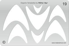 N° 19 clair acrylique gabarit/pochoir pour l'argile polymère/métal/bijoux/artisanat