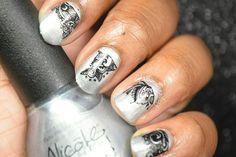 Silver & Black - Stamping Saturdays #2 #nails #naturalnails #nailart #naildesigns #stamping #stampingnailart #stampingnaildesigns #silver #black #nicolebyopi #bundlemonster #mundodeunas #mdu #notd #nailpolishaddict #nailpolish #nailpolishlover #nailswag #nailpolishblogger #nailartlover Nicole By Opi, Bundle Monster, Stamping Nail Art, Natural Nails, Swag Nails, Nail Art Designs, Swatch, Nailart, Nail Polish
