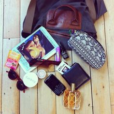 What's inside our beauty intern's bag? All the necessities & tons of awesome beauty products (duh!) #urbanoutfitters