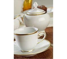 porcelana Villa Italia Opera Gold - Zestaw do herbaty filiżanka herbata serwis herbaciany