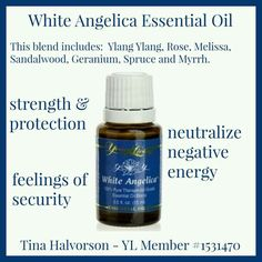 White Angelica Young Living Emotions And Essential Oils, Yl Essential Oils, Young Living Essential Oils, Essential Oil Blends, White Angelica Young Living, Eos Products, Young Living Oils, Diffuser Blends, Natural Health