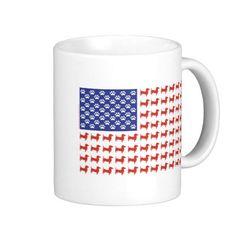 USA Dachshund Coffee Mug