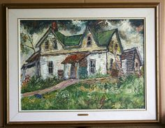 in Art, Art from Dealers & Resellers, Paintings Old Country Houses, Old Houses, Old Cabins, Algonquin Park, His Travel, Peterborough, Ontario, Art Art, Gothic