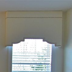 Shaped Cornice with nailheads -- upholstered