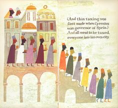 The First Noel, illustrated by Alice & Martin Provensen, 1959. The Provensens are awesome!!