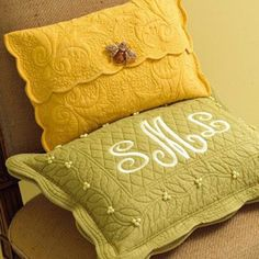Placemats to pillows!