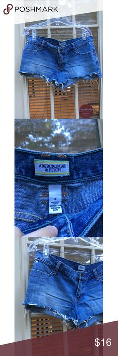 ✨ Abercrombie & Fitch denim jean shorts - Abercrombie & Fitch denim shorts  - Super cute and only worn a few times  - Stock up now with this low price for next summer! (Or maybe you live somewhere where it's still warm - lucky!)  - Short, as most a&f jean shorts are  - True to size: 6  - Brand: Abercrombie & Fitch  *20% off 2+ * Make me an offer!! Abercrombie & Fitch Shorts Jean Shorts