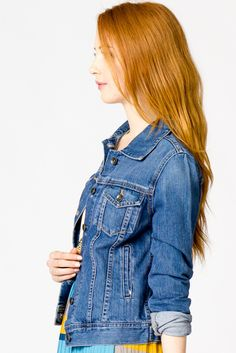 denim jacket.