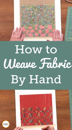 This video explains that fabric weaving makes for a great applique background or focal point for your next quilt. Fabric Weaving, Quilting Fabric, Woven Fabric, Block Plan, Heather Thomas, Straight Cut, Sewing Hacks, How To Plan, How To Make