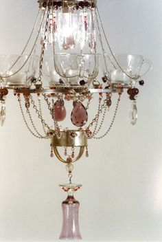 Teacup Chandeliers by Madeleine Boulesteix. Quartet Chandelier - Electric B