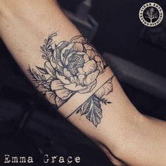 "tattoos-org: ""Flower Arm Band Tattoo Artist: Emma Grace Painter, imaginator, tattoo artist. Cinar Arts - Istanbul- """