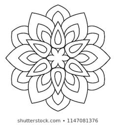 Easy mandala, basic and simple mandalas coloring book for adults, seniors, and beginner. Mandalas flower coloring page on white background. Easy Mandala Drawing, Simple Mandala, Mandala Art Lesson, Mandalas Drawing, Mandala Painting, Dot Painting, Flower Coloring Pages, Mandala Coloring Pages, Coloring Book Pages
