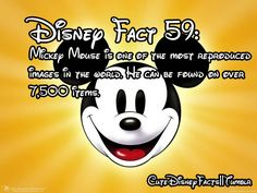 59 - Mickey Mouse is one of the most reproduced images in the world. He can be found on over items Disneyland Secrets, Disney Secrets, Disney Tips, Disney Magic, Disney Pixar, Disney Stuff, Walt Disney, Disneyland Park, Disney Cruise