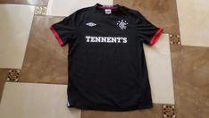 Glasgow Rangers Shirt Football Jersey Soccer Trikot Maglia Black Size S Top Men Football Jerseys, Glasgow, Soccer, Mens Tops, Shirts, Outfits, Black, Fashion, Unitards
