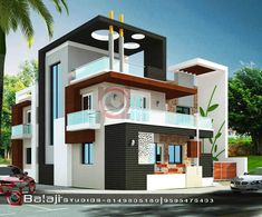 Front Elevation Designs, House Elevation, House Front Design, Modern House Design, Interior Design Living Room Warm, Contemporary House Plans, Dream House Exterior, New Home Designs, Exterior Design