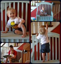 @Corrie Traxler Traxler Varner I like this -  Repurposed Crib into Toy Box Bench