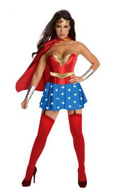 Sexy Adult Superhero Role-playing Cosplay Superwomen Halloween Party Costume $21.95