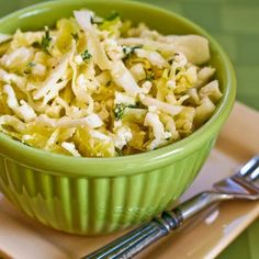 Greek Cabbage Salad with Feta and Thyme; so many of my favorite flavors!  [from KalynsKitchen.com] #DeliciouslyHealthyLowCarb #Glutenfree #GreekFlavors