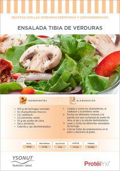 ¿Buscas una comida ligera y sana para hoy? Prepara y prueba nuestra Ensalada Tibia de Verduras en nuestra sección de Recetas de Dieta de nuestro blog de nutrición - Nutrición Equilibrada. ¡Ya nos contarás qué tal ésta sana delicia!