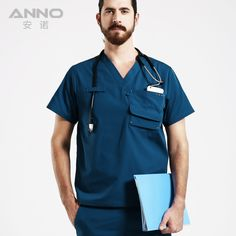 2017 Latest Dental Clinic & Hospital Medical Scrub Set Doctors Short Sleeve V Neck Surgical Uniform Pet Nurse Work Clothing Sale #Affiliate
