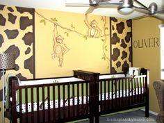 Kristin Plansky Murals | Monkey Nursery