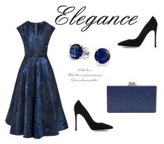 """""""52"""" by meldiana ❤ liked on Polyvore featuring Ted Baker, Bling Jewelry, Gianvito Rossi and Edie Parker"""