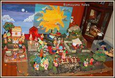 A navarathri golu based on Ramayana theme