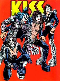 I still have this comic book , made with the blood of KIss