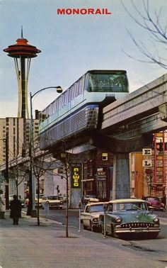 Monorail, runs from downtown to the Seattle Center (Space Needle, Science Center, Coliseum (Arena), Opera House and more.  Has been breaking down, but that too is a story to tell friends at home!