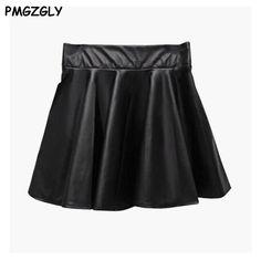 41814da1e Las 12 mejores imágenes de Faux leather skirt en 2016   Cuero negro ...