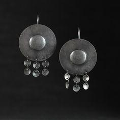 Tribal Shield Earrings by rebeccabashara on Etsy https://www.etsy.com/listing/169677558/tribal-shield-earrings