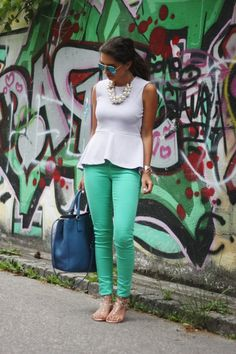 Colour Bomb ( Shirts & Blouses & Pants ) with T-shirts diy T-shirts cut T-shirts cutting T-shirts into tank tops