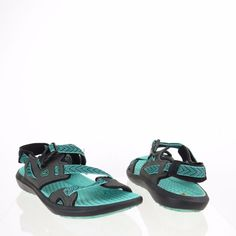 Women's Keen Maupin Shoes Black Blue Synthetic Sports Sandals Size 8 M #Keen #SportSandals