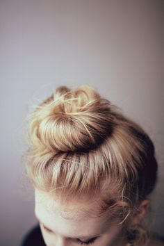 topknot. #bun #hair