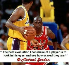 The mind of a killer on the court...