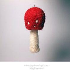 Christmas Mushroom Ornament garden decoration by ChronoSalpGalaxy, $5.00