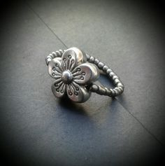 Bagues elastique métallique (fleur)
